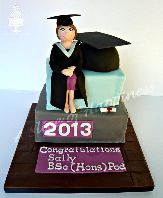 Graduation Stacked Book Cake