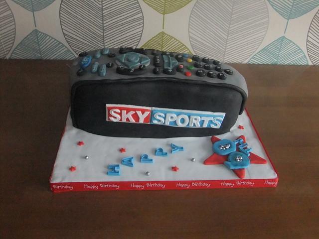 TV remote control 60th cake
