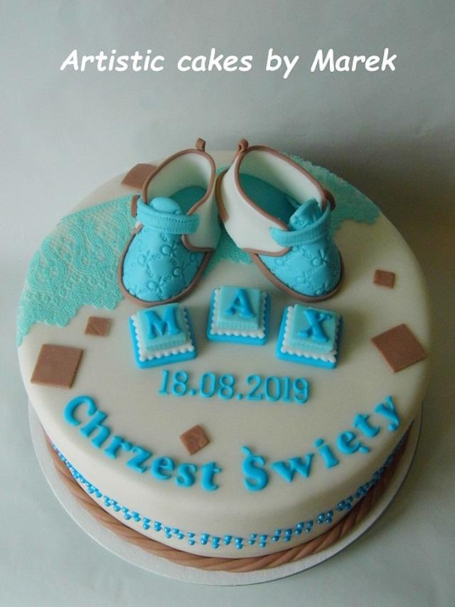 Baptism boy cake