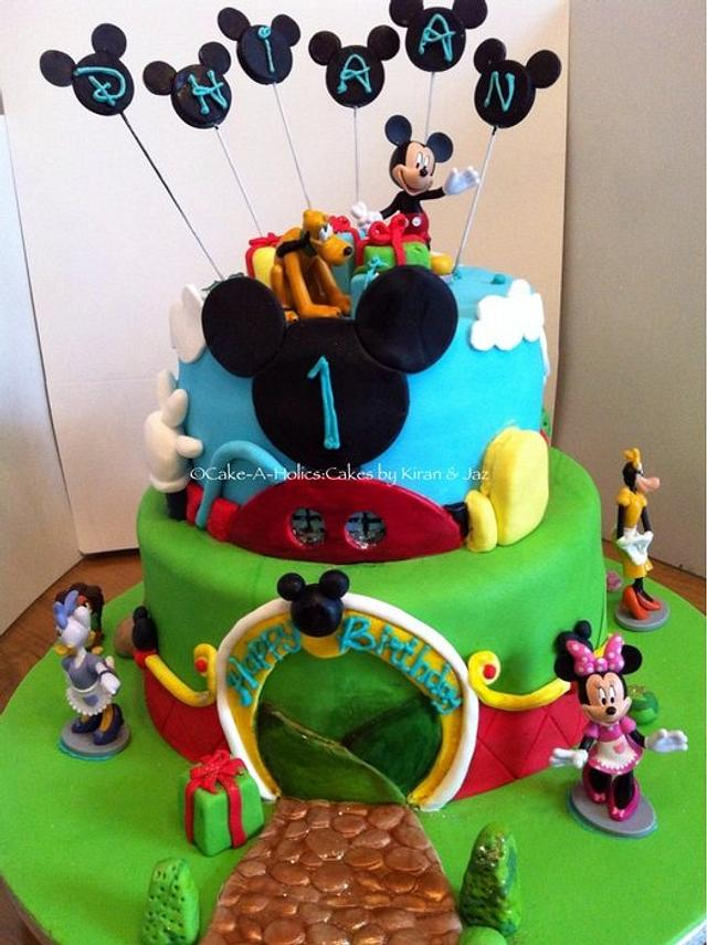 Sensational Mickey Mouse Clubhouse Birthday Cake Cake By Cakesdecor Personalised Birthday Cards Veneteletsinfo