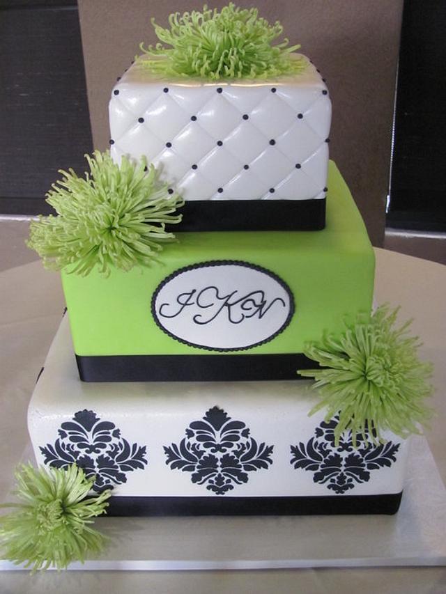 Green Fuji Mum Cake
