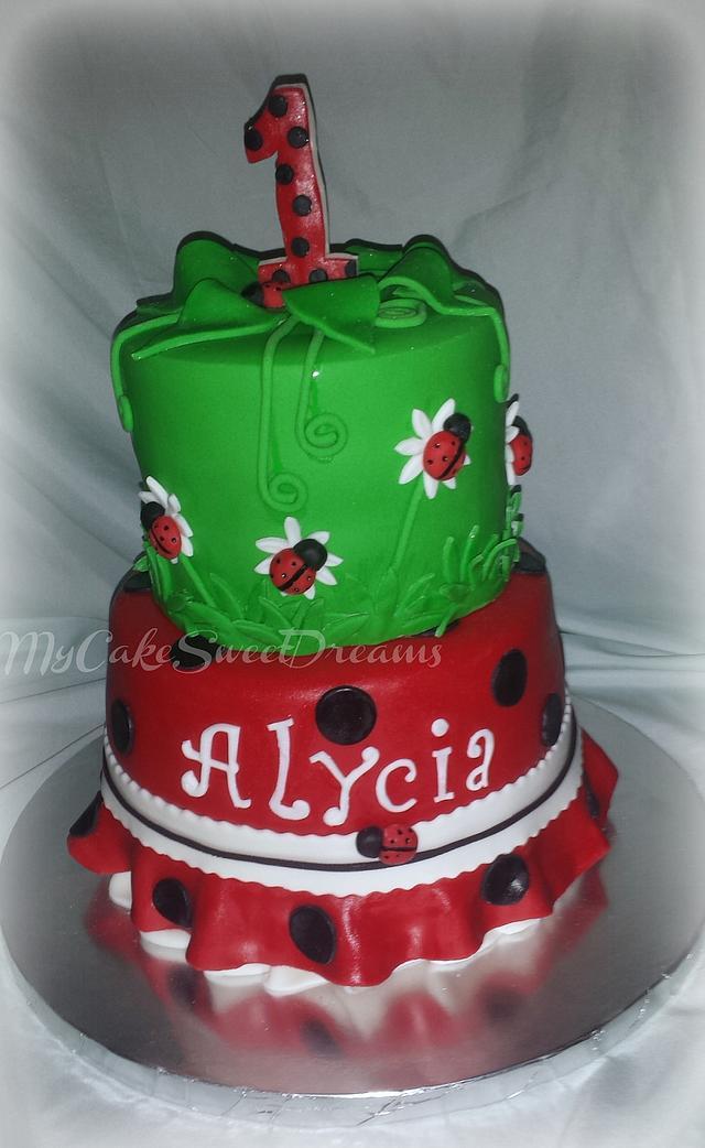 Astounding Ladybug 1St Birthday Cake Cake By My Cake Sweet Dreams Cakesdecor Birthday Cards Printable Giouspongecafe Filternl