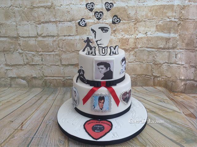Fantastic Elvis 60Th Birthday Cake By Sweet Lakes Cakes Cakesdecor Birthday Cards Printable Opercafe Filternl