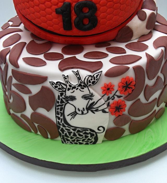 basketball´s cake