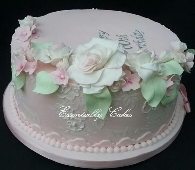 Pastel pink and flowers