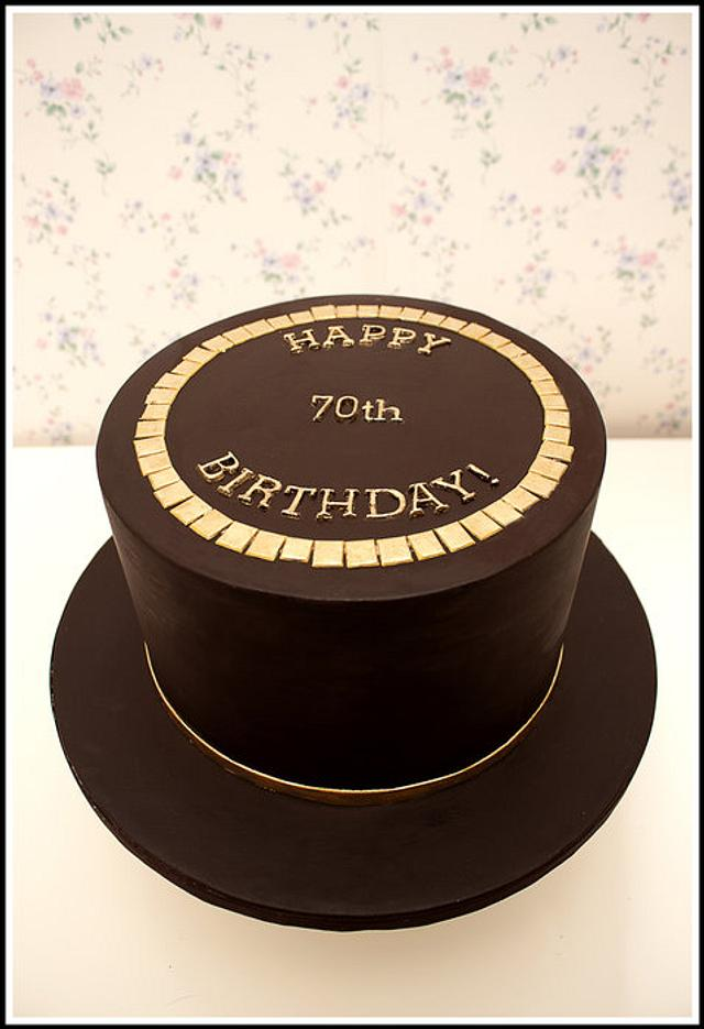 Chocolate Gold Birthday Cake