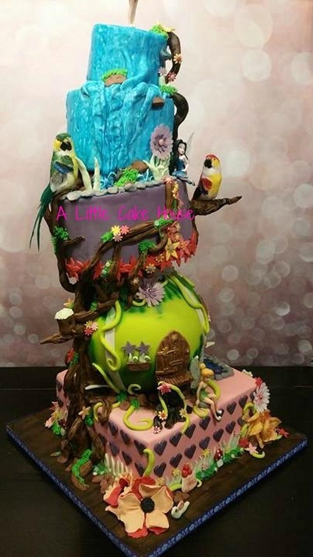 tinkerbel cake