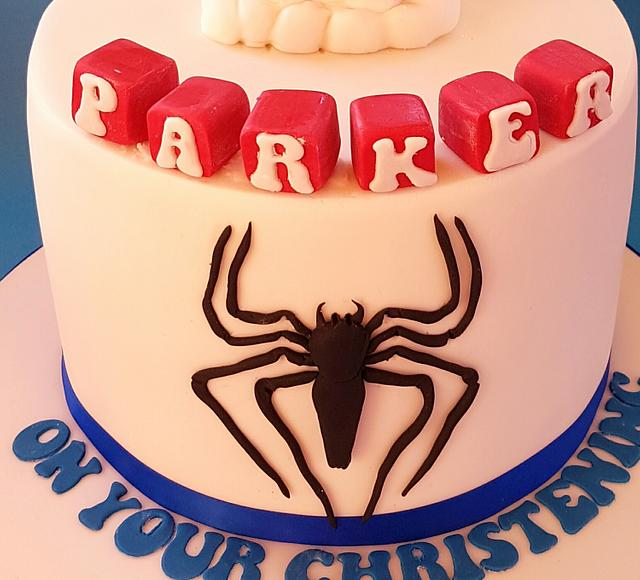 Spiderman Christening Cake