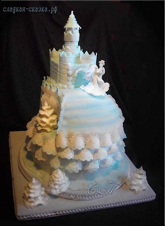 "Cake ""Winter Wedding"""