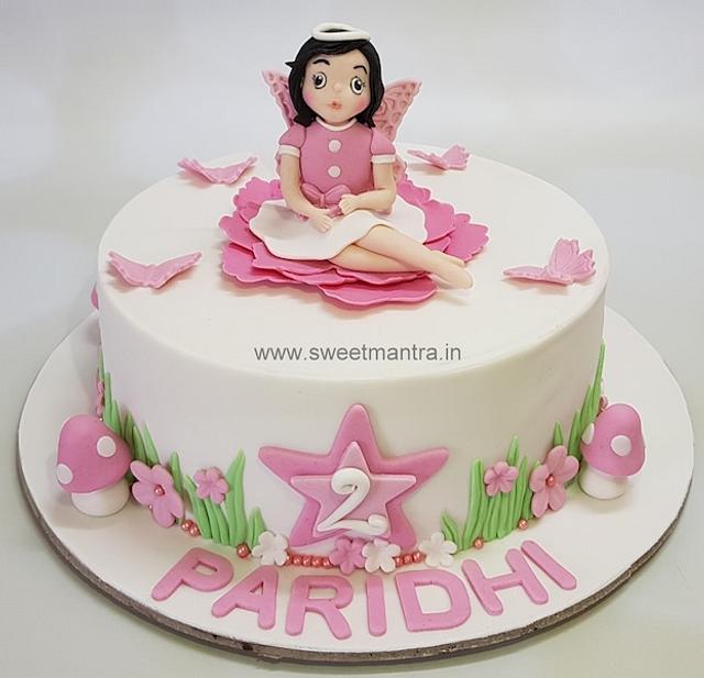 Angel Theme Customized Fondant Cake For Little Girls 2nd Cakesdecor