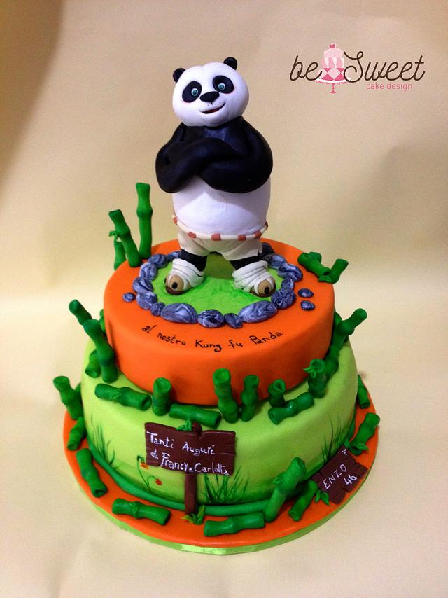 Sensational Torta Kung Fu Panda Cake By Besweet Cakesdecor Funny Birthday Cards Online Elaedamsfinfo