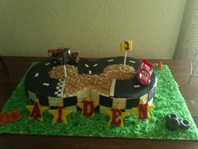 Fabulous Cars Racetrack Cake Cake By Shylonda Waters Cakesdecor Funny Birthday Cards Online Aboleapandamsfinfo