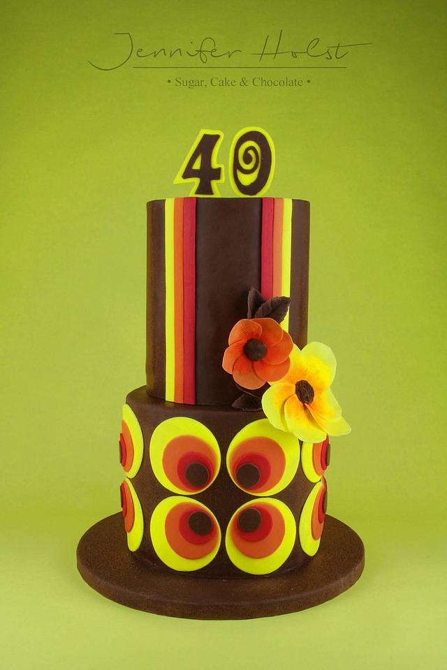 70ties Birthday Cake