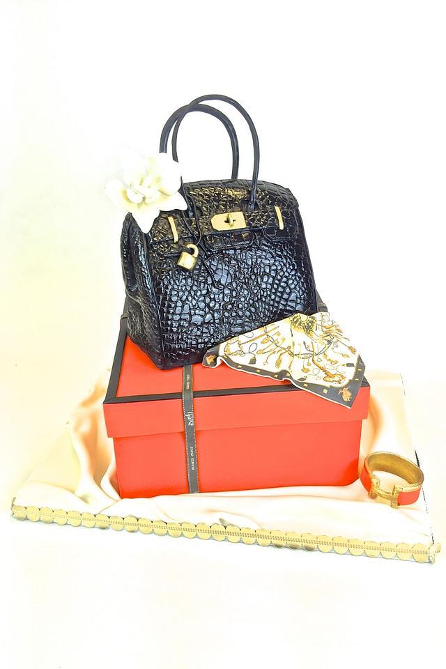 Hermes Purse & Gift Box Cake