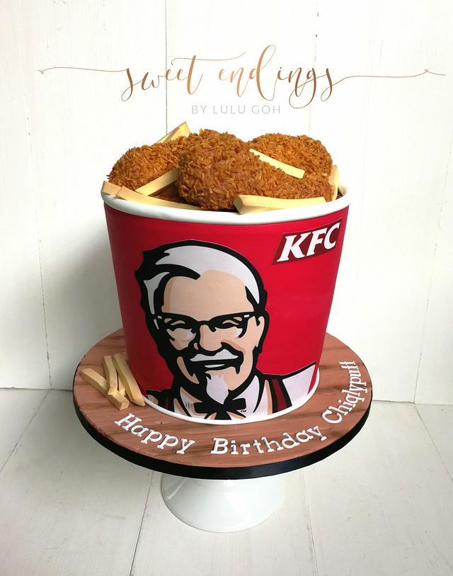 KFC Bucket of Fried Chicken