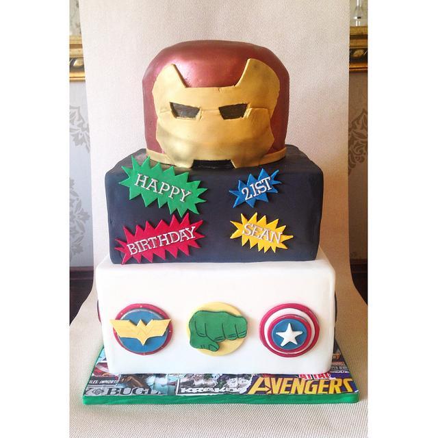 Terrific Marvel And Dc Themed Birthday Cake Cake By Beth Evans Cakesdecor Funny Birthday Cards Online Kookostrdamsfinfo