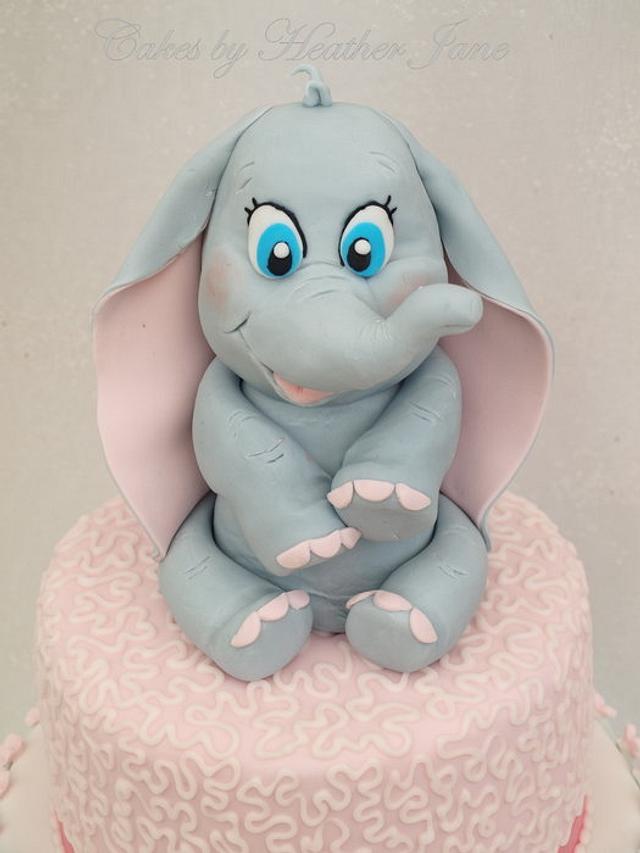 Baby Dumbo Christening Cake