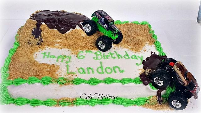 Cool Monster Jam Birthday Cake By Donna Tokazowski Cake Cakesdecor Funny Birthday Cards Online Elaedamsfinfo