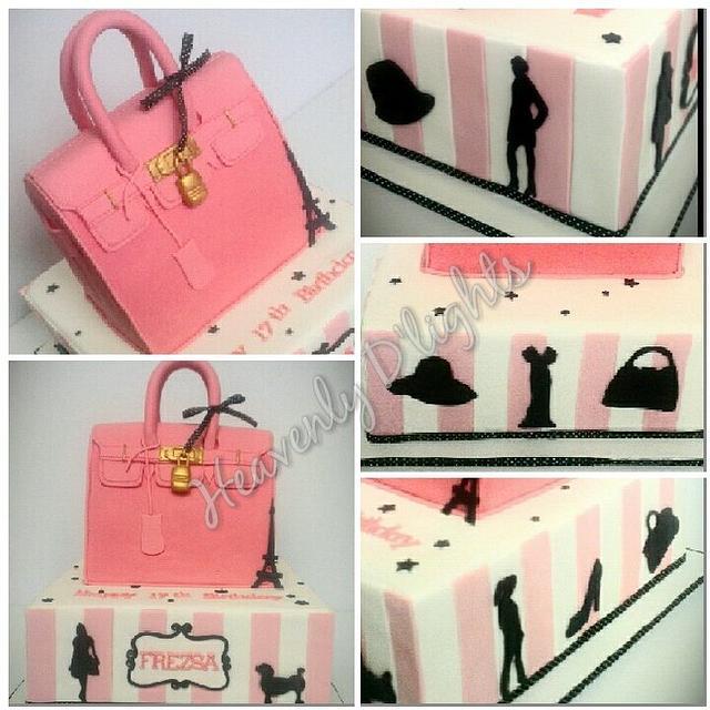 Hermes Bag - Paris Themed Cake