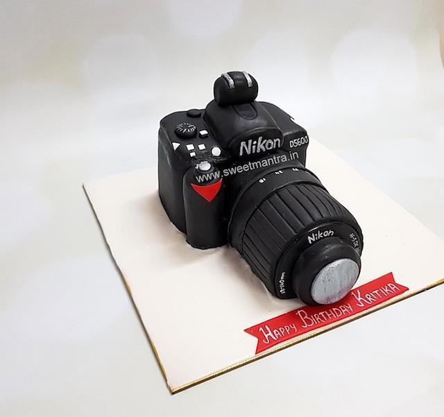 Superb Nikon Dslr Camera Shaped 3D Designer Fondant Cake For Cakesdecor Personalised Birthday Cards Veneteletsinfo