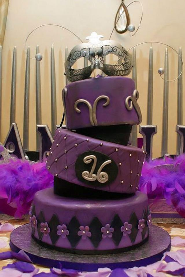 Masquerade Sweet 16 Cake