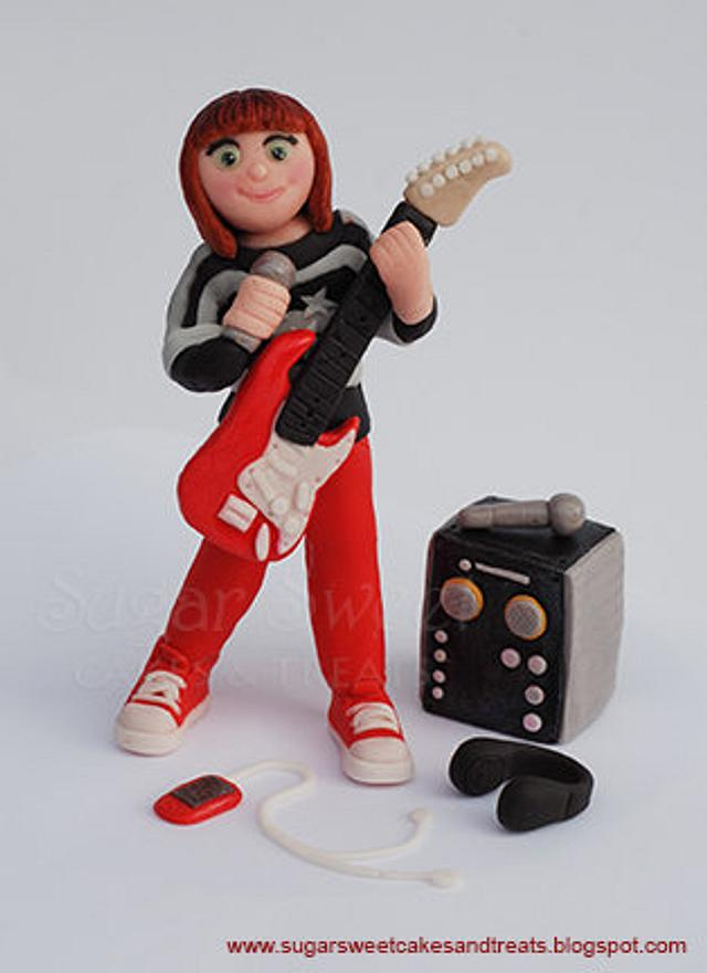 Rock Star Girl Figurine