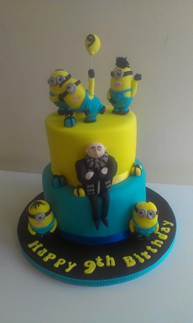 Fabulous Despicable Me Birthday Cake Cake By Amy Cakesdecor Funny Birthday Cards Online Inifofree Goldxyz