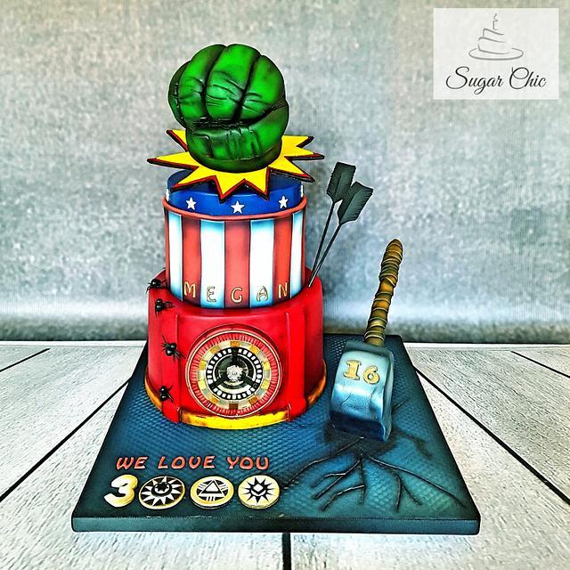 x Avengers Birthday Cake x