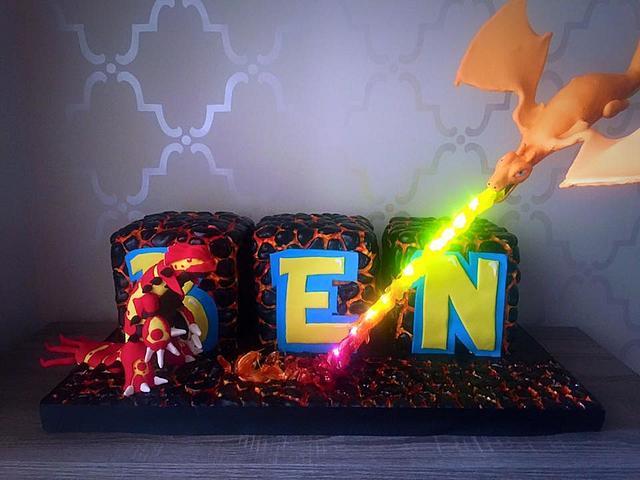 Pokemon light up cake