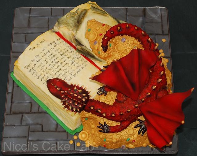 The Hobbit book cake