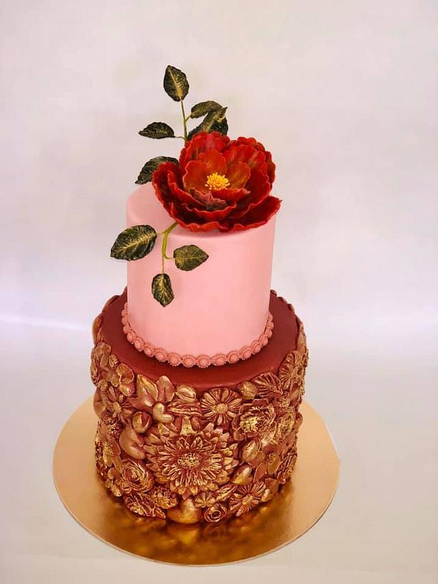 Stupendous Elegant Birthday Cake Cake By Janicka Cakesdecor Personalised Birthday Cards Veneteletsinfo