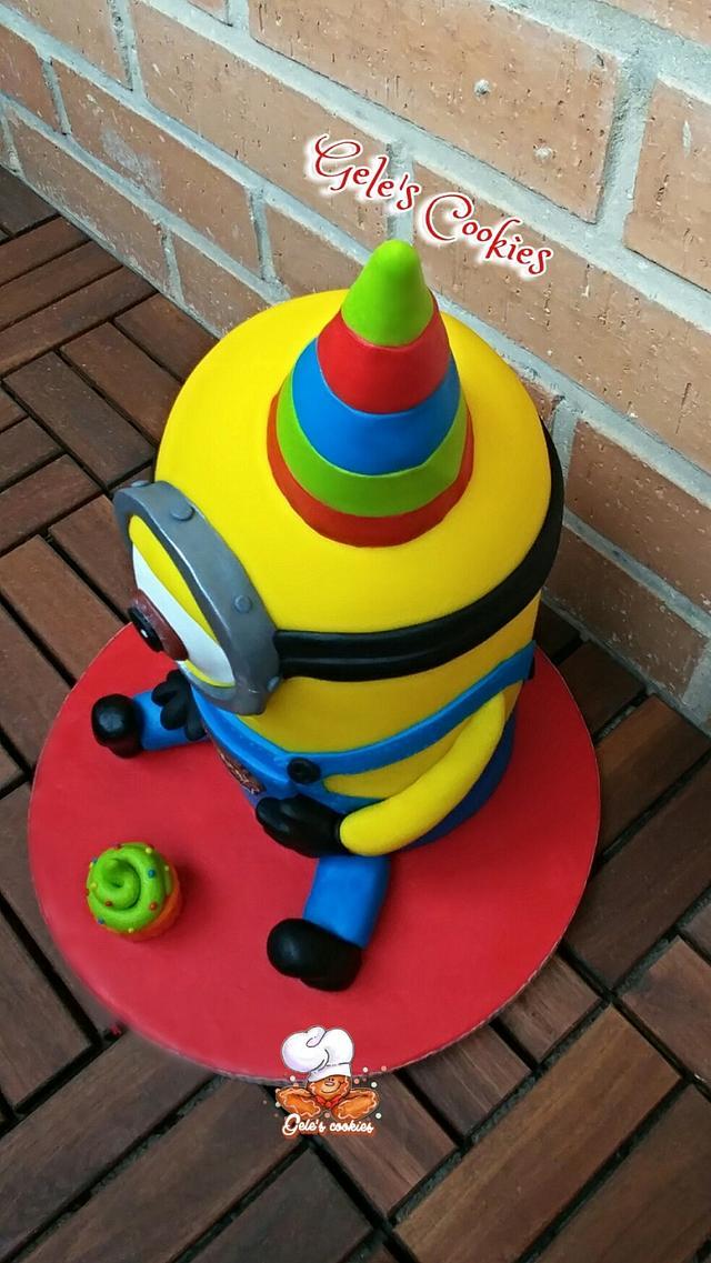 Party minion cake 3d