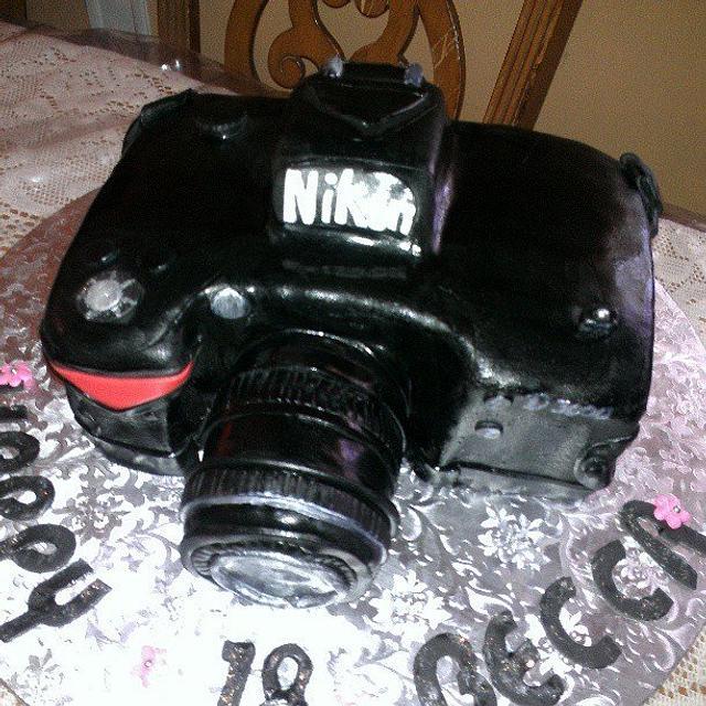 Enjoyable Nikon Camera Cake Cake By Rosey Mares Cakesdecor Personalised Birthday Cards Sponlily Jamesorg