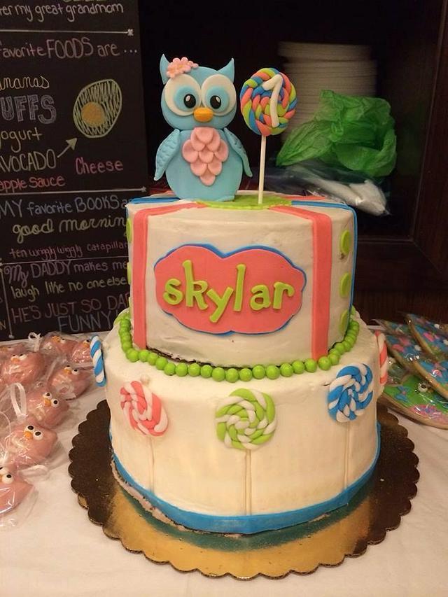 Enjoyable Owl First Birthday Cake Cake By Jeana Byrd Cakesdecor Funny Birthday Cards Online Hendilapandamsfinfo