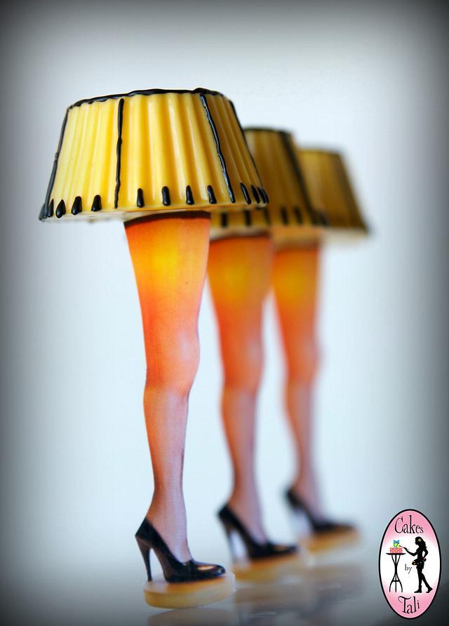 Christmas Story - leg lamp cake-pops