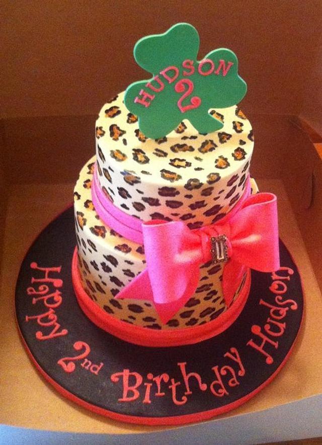 Outstanding Leopard Print Birthday Cake Cake By Jenny Kennedy Cakesdecor Birthday Cards Printable Giouspongecafe Filternl