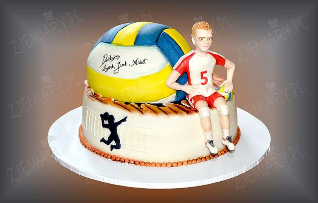 Fine Cake For Volleyball Player Cake By Anna Cakesdecor Personalised Birthday Cards Beptaeletsinfo