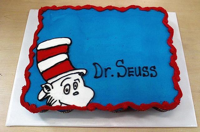 Dr. Suess Cupcake Cake