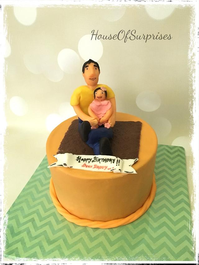 Strange Happy Birthday Dad Cake By Shikha Cakesdecor Personalised Birthday Cards Veneteletsinfo