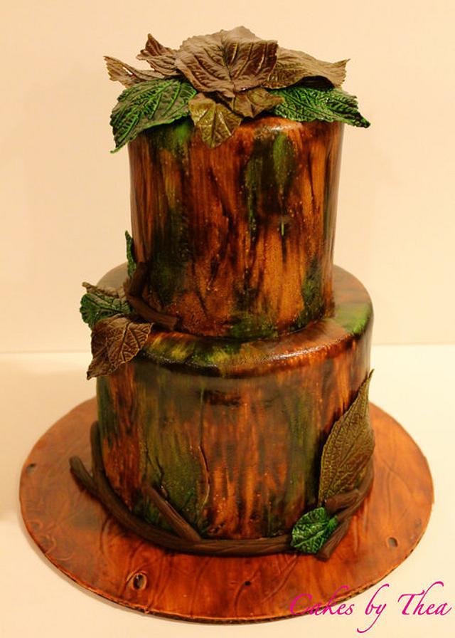 Camouflage wedding cake