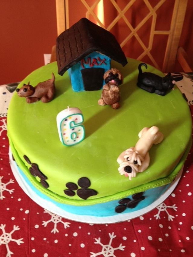 Strange Puppy Dog Birthday Cake Cake By Grandmab Cakesdecor Funny Birthday Cards Online Drosicarndamsfinfo