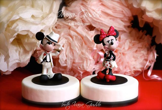 Mickey Mouse & Minnie cake topper