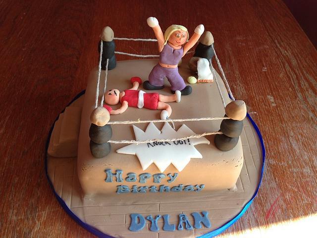 Boxing ring cake