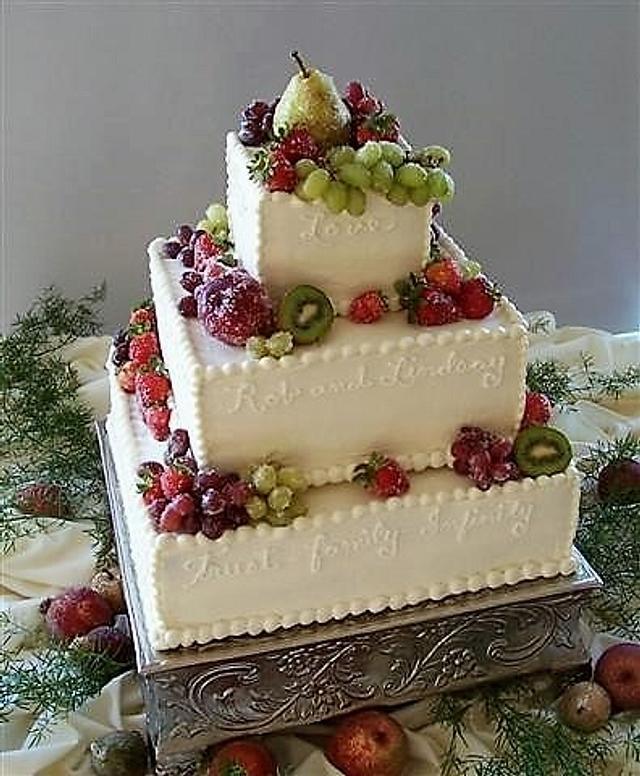 Sugared Fruit Wedding Cake