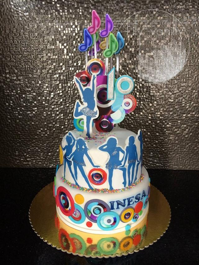 Astounding Disco Party Birthday Cake Cake By Lily Vanilly Cakesdecor Funny Birthday Cards Online Hendilapandamsfinfo