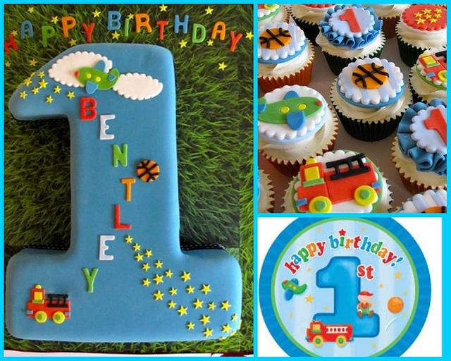 Fine Baby Boys First Birthday Cake By Aleshia Harrison For Cakesdecor Funny Birthday Cards Online Inifofree Goldxyz