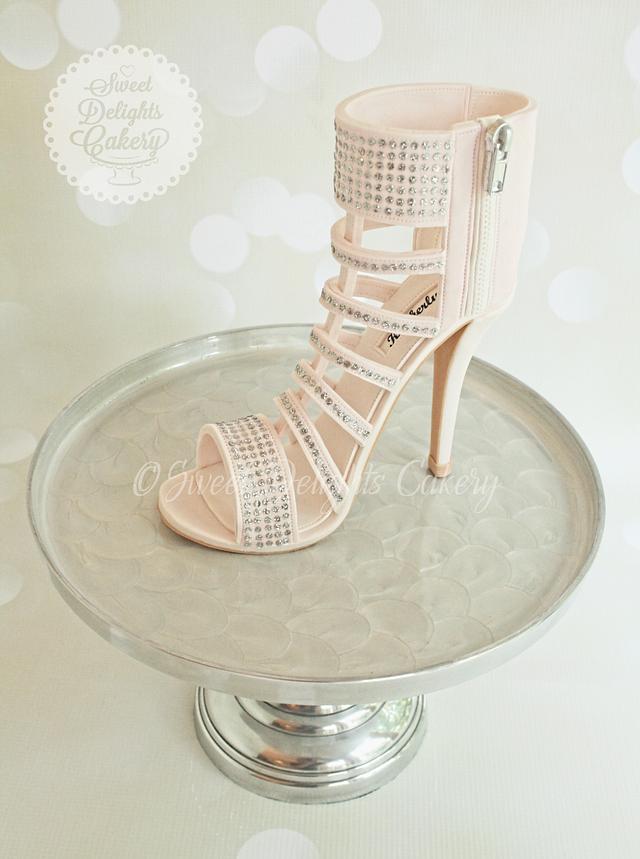 Blush Pink Vince Camuto Shoe Cake
