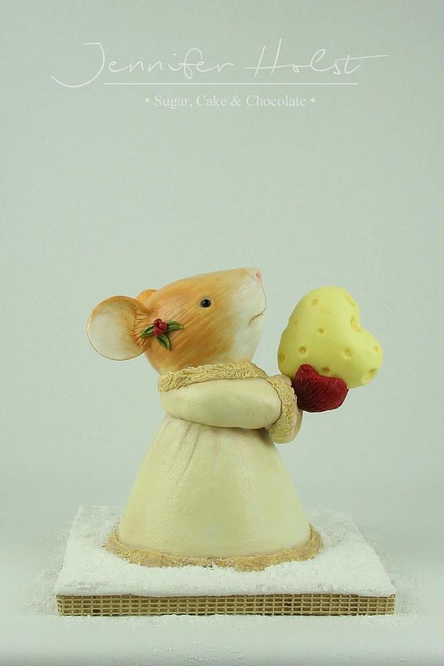 3D Christmas Mouse Cake