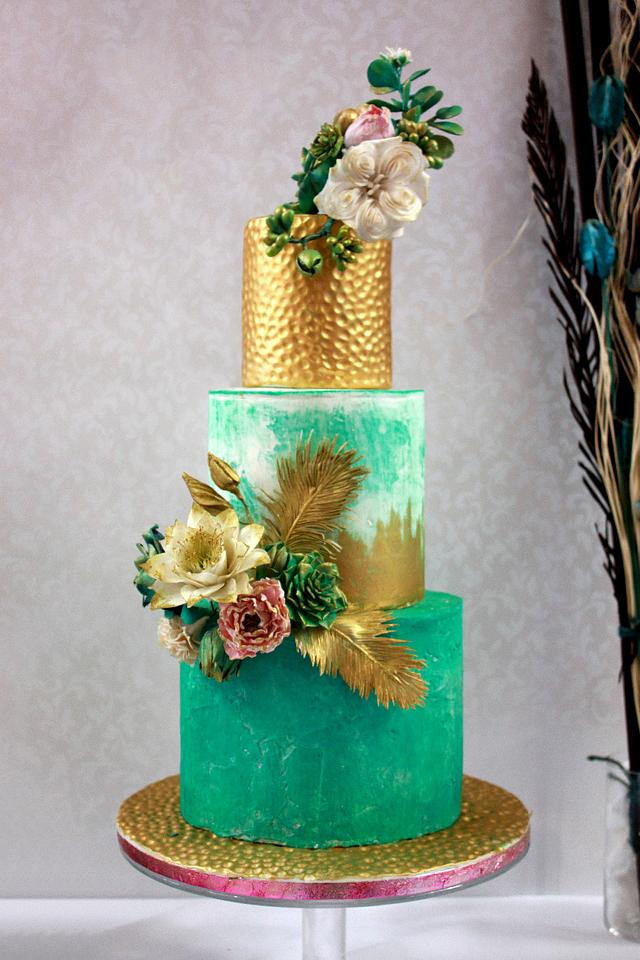 Emerald and gold