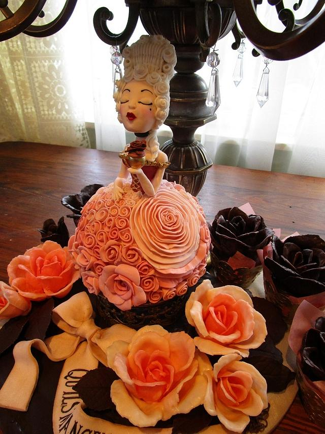 Marie Antoinette and roses